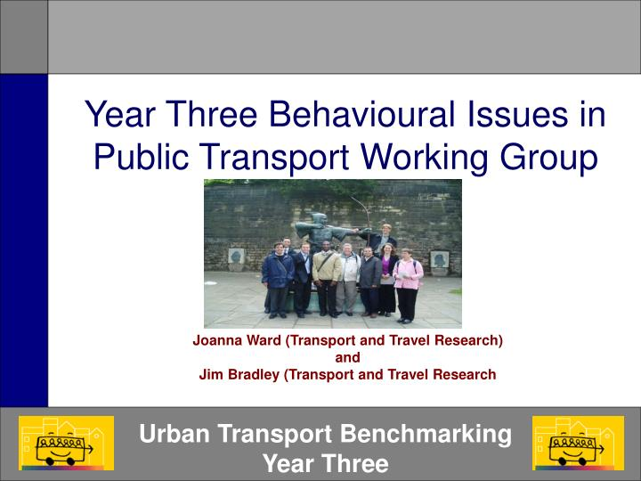 year three behavioural issues in public transport working group n.