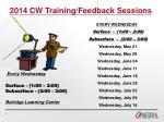 2014 cw training feedback sessions