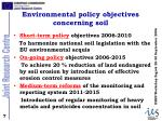 environmental policy objectives concerning soil