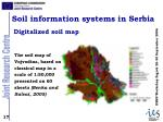 soil information systems in serbia