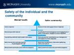 safety of the individual and the community
