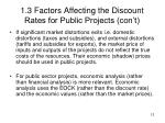 1 3 factors affecting the discount rates for public projects con t