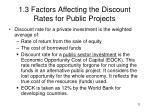 1 3 factors affecting the discount rates for public projects