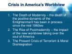 crisis in america s worldview