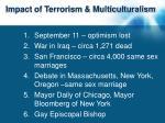 impact of terrorism multiculturalism