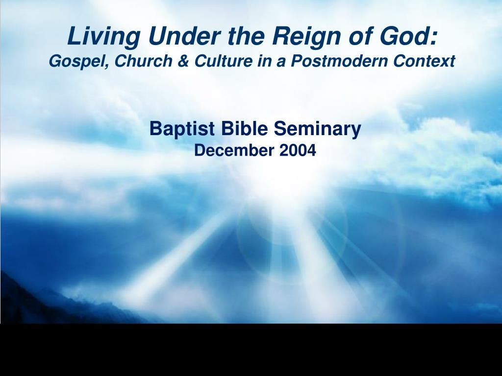 living under the reign of god gospel church culture in a postmodern context l.