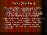 filiality filial piety