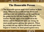 the honorable person1