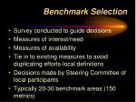 benchmark selection