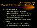 benchmarking and organizational improvement continued1