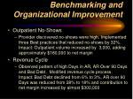 benchmarking and organizational improvement