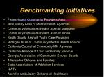benchmarking initiatives