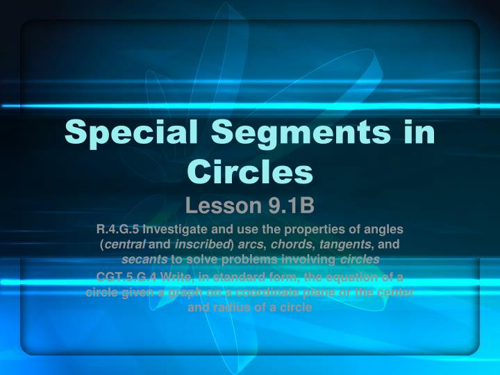 special segments in circles n.