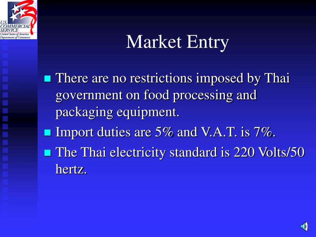 Market Entry