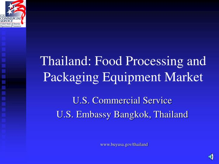 Thailand food processing and packaging equipment market
