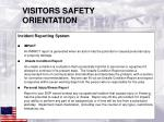 visitors safety orientation10