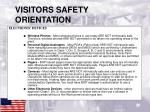 visitors safety orientation9