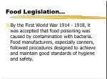 food legislation23