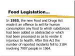food legislation25