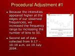 procedural adjustment 1