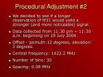 procedural adjustment 2