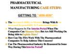 pharmaceutical manufacturing case study2