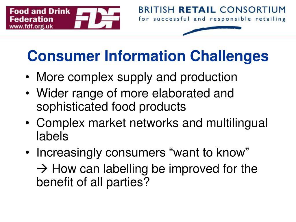 Consumer Information Challenges