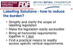 labelling solutions how to reduce the burden