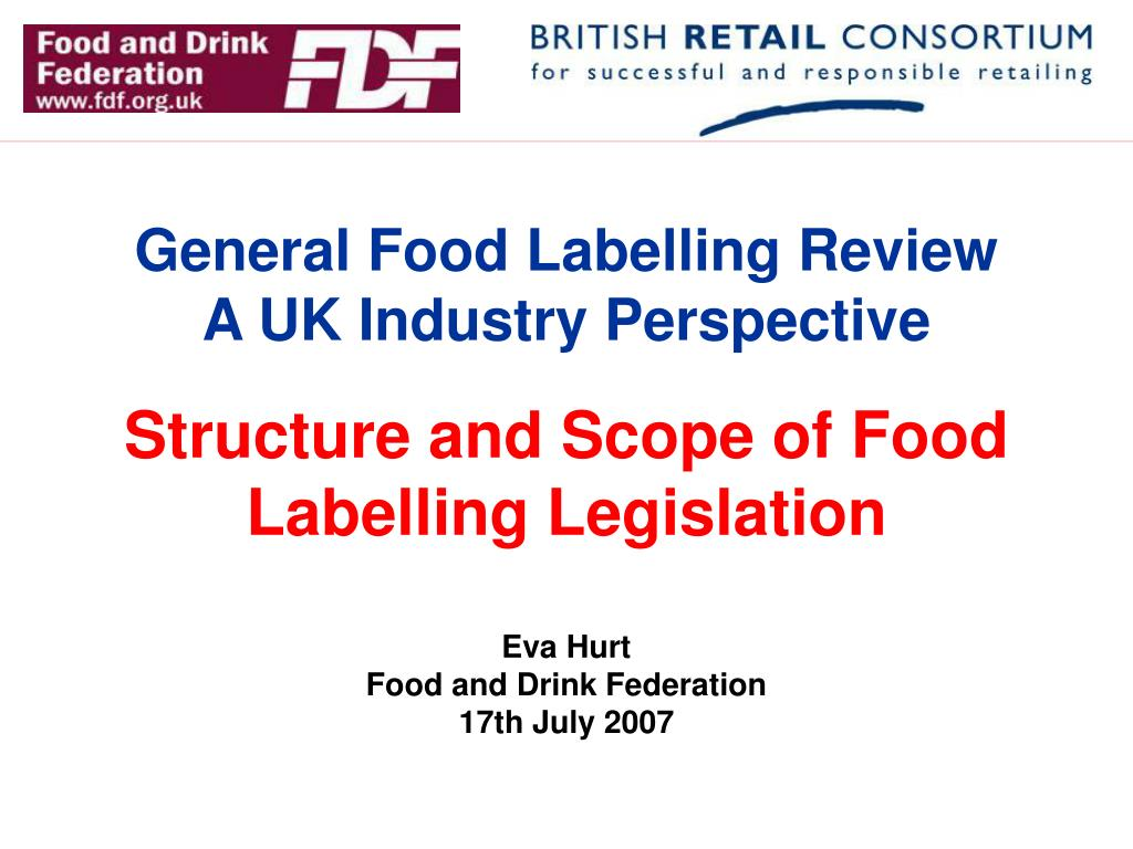 General Food Labelling Review