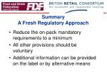 summary a fresh regulatory approach