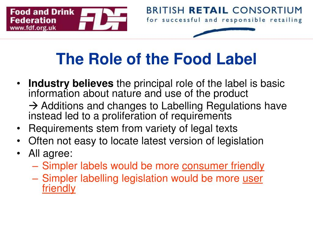 The Role of the Food Label