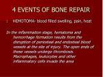 4 events of bone repair