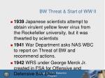 bw threat start of ww ii