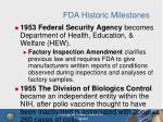 fda historic milestones