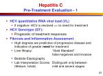 hepatitis c pre treatment evaluation 1