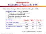 osteoporosis proximal renal tubulopathy prt