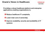oracle s vision in healthcare