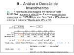 9 an lise e decis o de investimentos9