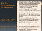 the ten commandments of transfusion questions bloody e asy 3 jl callum et al 2011