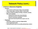 telework policy cont