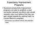 expectancy improvement programs