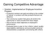 gaining competitive advantage1