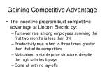 gaining competitive advantage3