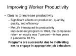 improving worker productivity