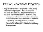 pay for performance programs