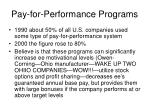 pay for performance programs1
