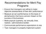 recommendations for merit pay programs