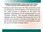 review of professional ethics initiatives in free state kwa zulu and limpopo 2006 2007 2008