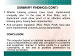summary findings cont1