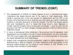 summary of trends cont